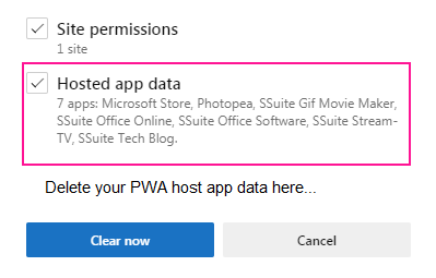 Image of SSuite Office PWA Software being installed.