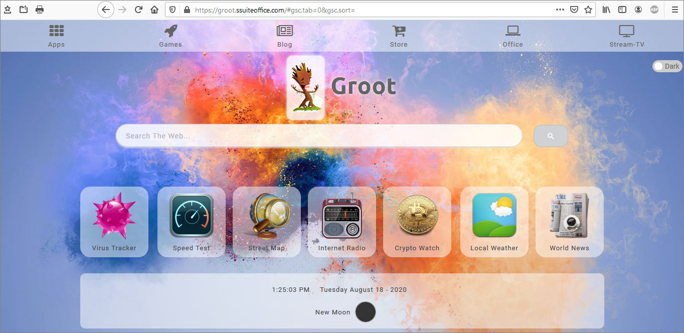 Our latest new internet portal and gateway called The Groot Search. Image inserted by SSuite Office Fandango Desktop Editor